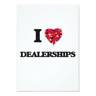 I love Dealerships 5x7 Paper Invitation Card