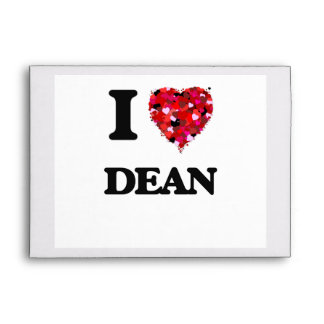 I Love Dean Envelopes