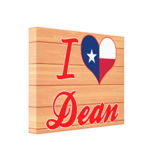 I Love Dean, Texas Stretched Canvas Print