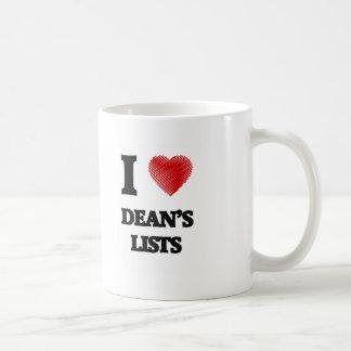 I love Dean's Lists Coffee Mug