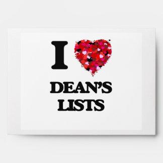 I love Dean's Lists Envelope
