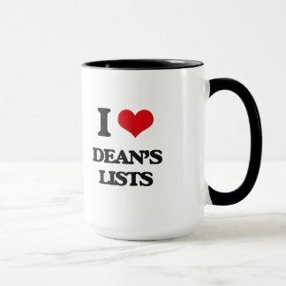 I love Dean's Lists Mug