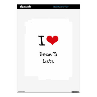 I Love Dean's Lists Decal For The iPad 2