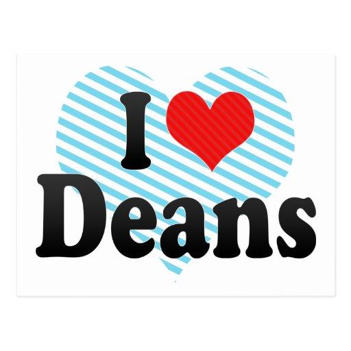 I Love Deans Postcard