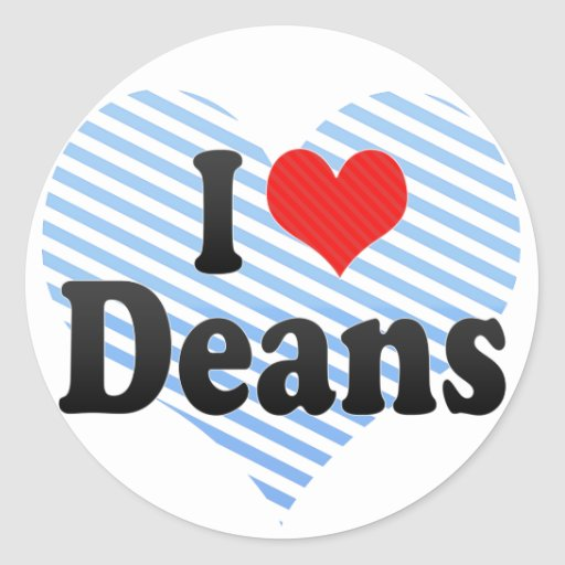 I Love Deans Stickers