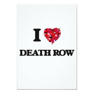 I love Death Row 3.5x5 Paper Invitation Card