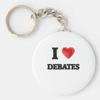 I love Debates Keychain
