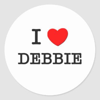 I Love Debbie Classic Round Sticker