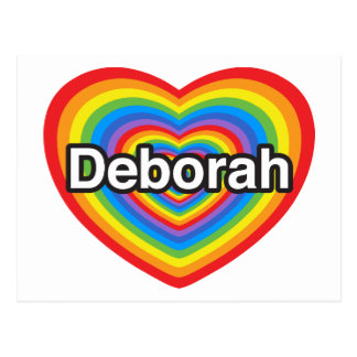 I love Deborah. I love you Deborah. Heart Postcard