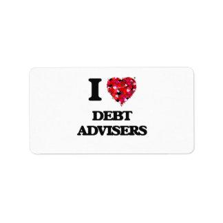 I love Debt Advisers Address Label