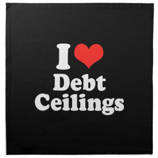 I LOVE DEBT CEILINGS.png Cloth Napkin