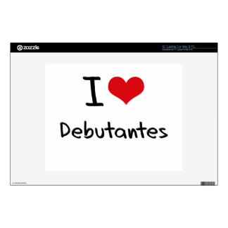 """I Love Debutantes Decal For 12"""" Laptop"""