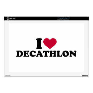 "I love Decathlon Decal For 17"" Laptop"