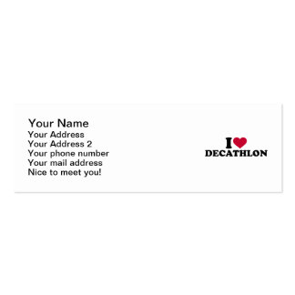 I love Decathlon Mini Business Card