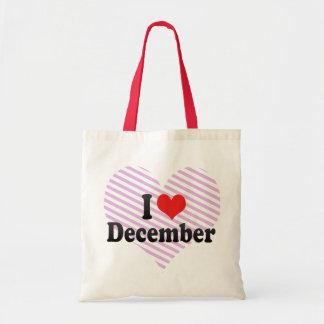 I Love December Budget Tote Bag