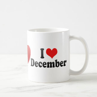 I Love December Classic White Coffee Mug