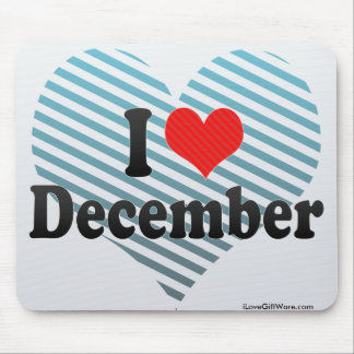 I Love December Mouse Pad
