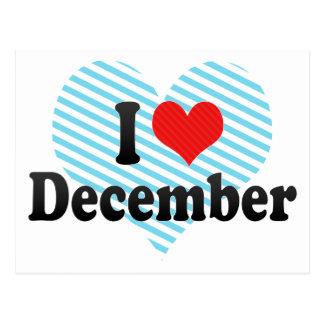 I Love December Postcard