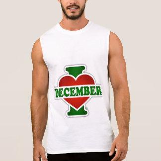 I Love December Sleeveless Shirt