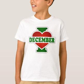 I Love December T-Shirt
