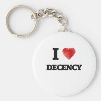 I love Decency Keychain