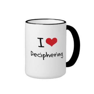 I Love Deciphering Ringer Coffee Mug