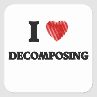 I love Decomposing Square Sticker