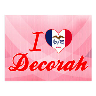 I Love Decorah, Iowa Postcard
