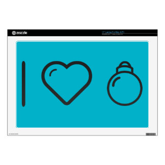 """I Love Decorating Christmas tree 17"""" Laptop Decal"""