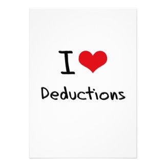 I Love Deductions Custom Announcement