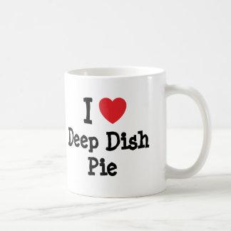 I love Deep Dish Pie heart T-Shirt Classic White Coffee Mug