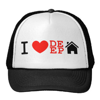 i love deep house music dj baseball cap