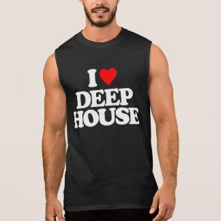 I LOVE DEEP HOUSE SLEEVELESS SHIRT