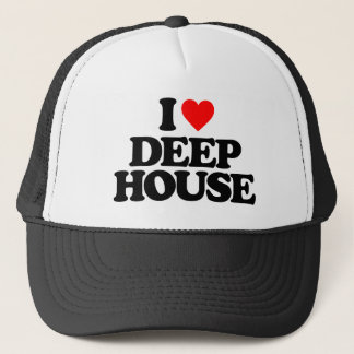 I LOVE DEEP HOUSE TRUCKER HAT
