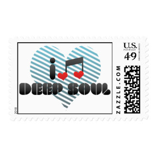 I Love Deep Soul Postage Stamp