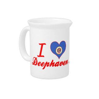 I Love Deephaven Minnesota Pitcher