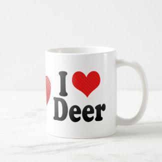 I Love Deer Coffee Mugs