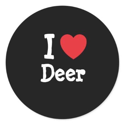 deer heart design.