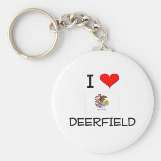I Love DEERFIELD Illinois Keychain