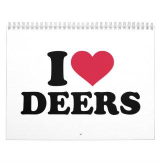 I love deers calendar