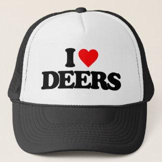 I LOVE DEERS TRUCKER HAT