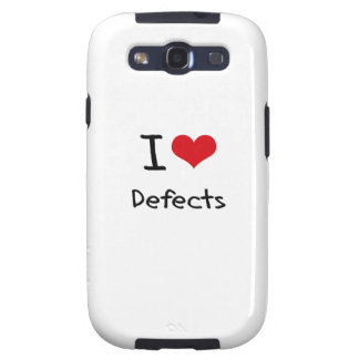 I Love Defects Samsung Galaxy SIII Covers