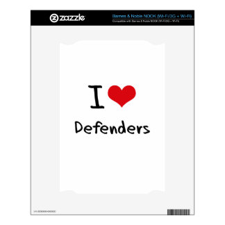 I Love Defenders Decal For The NOOK