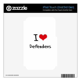 I Love Defenders iPod Touch 2G Decal