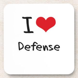 I Love Defense Drink Coasters