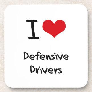I Love Defensive Drivers Beverage Coasters