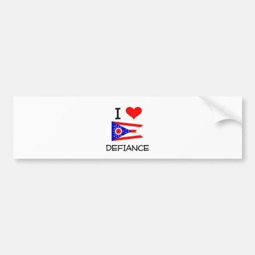 I Love Defiance Ohio Bumper Sticker