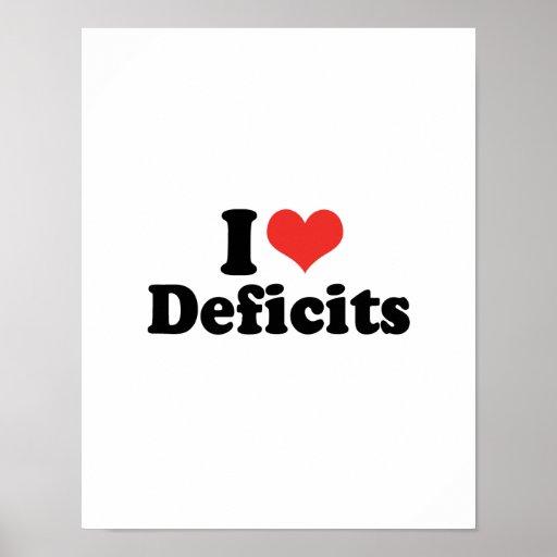 I LOVE DEFICITS - .png Poster