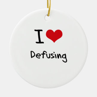 I Love Defusing Double-Sided Ceramic Round Christmas Ornament