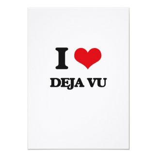 """I love Deja Vu 5"""" X 7"""" Invitation Card"""